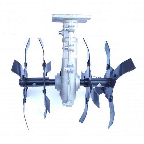 Насадка культиватор вал 26, 28мм для бензокос (мотокос)