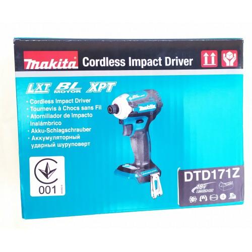 Аккумуляторный ударный гайковерт Makita DTD171Z