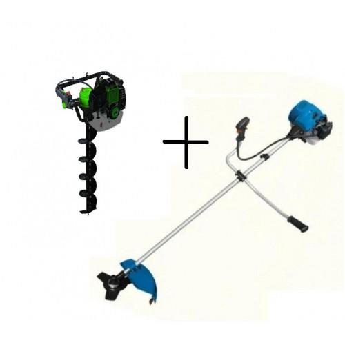 Комплект мотокоса Беларусмаш ББТ-6300 и Насадка Бур боковая для бензиновой косы