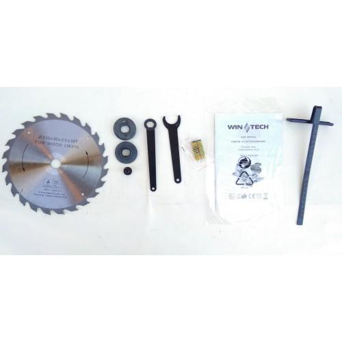 Пила дисковая циркулярка Wintech WCS 210L
