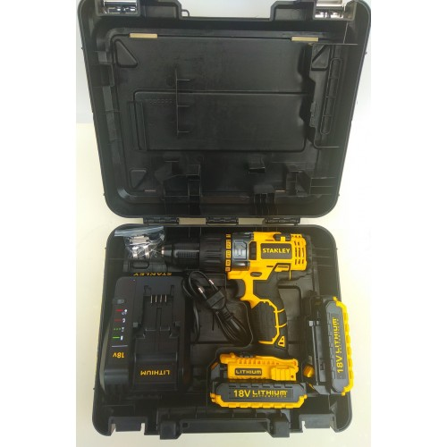 Шуруповерт аккумуляторный ударный Stanley STDC18LHBK