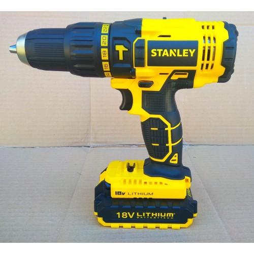 Аккумуляторный ударный шуруповерт Stanley SCH201D2K (STDC18LHBK)
