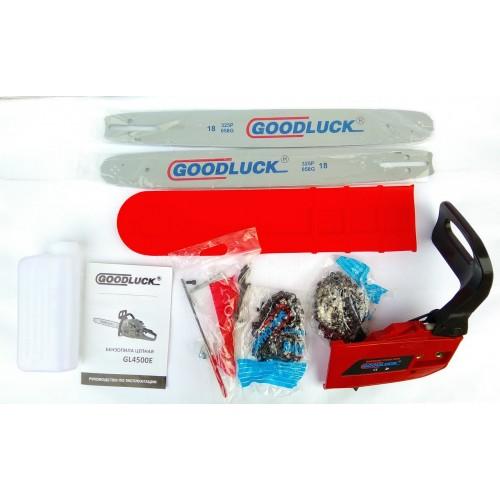 Бензопила Goodluck GL4500E (2 шины, 2 цепи)