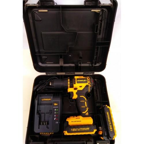Шуруповерт аккумуляторный STANLEY SBD20S2K (бесщёточным)