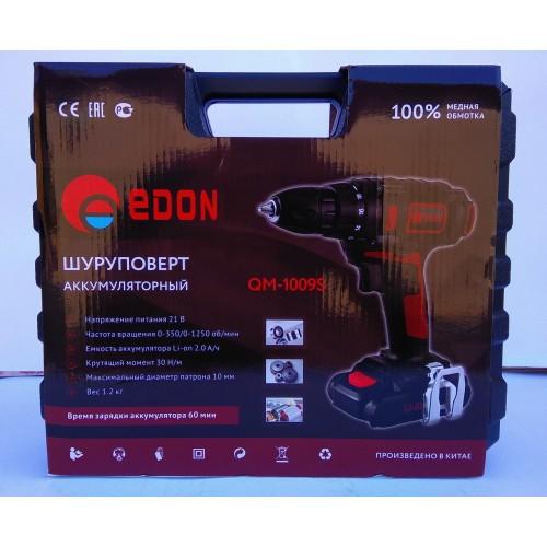 Шуруповерт аккумуляторный Edon CF-1009S