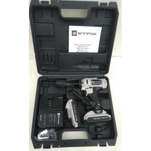 Шуруповерт аккумуляторный Элпром ЭДА-18-2Li Quick съемный патрон